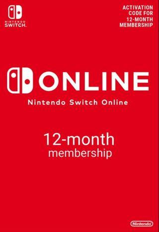 Nintendo Switch Online 12-Month (365-Day) Membership