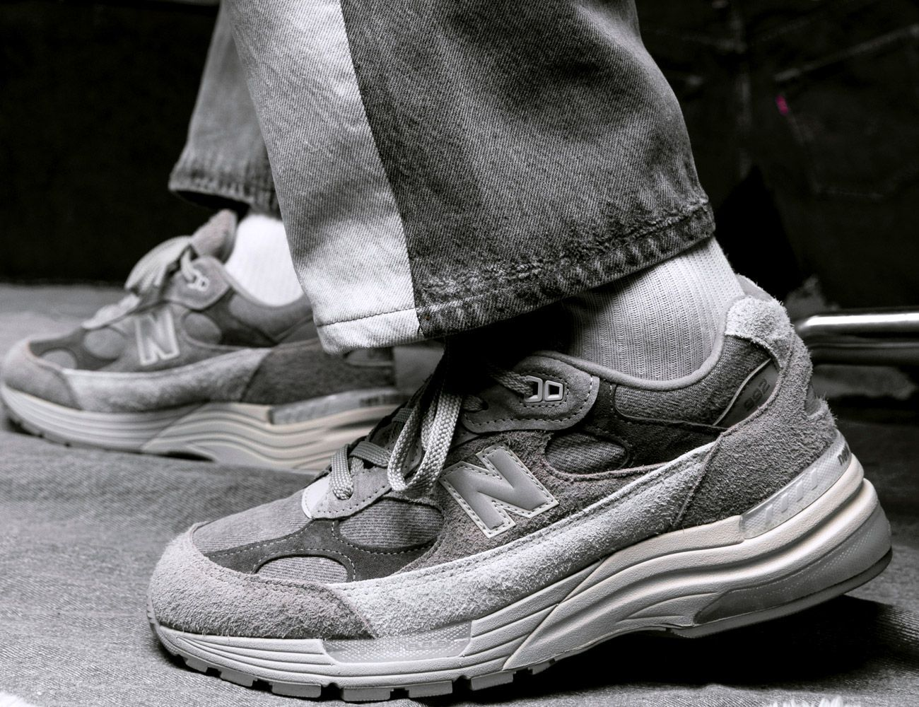 Don't Look Away. A Levi's x New Balance Collab Just Dropped