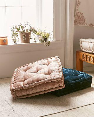 Ruthie Velvet Floor Pillow