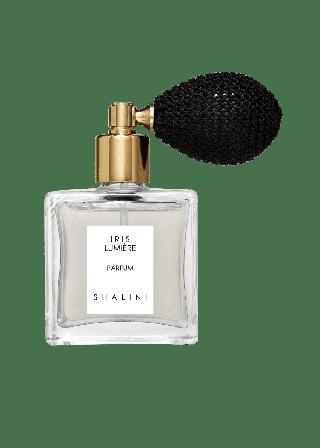 1.7 oz. Iris Lumiere Parfum in Cubique Glass Bottle w/ Black Bulb Atomizer
