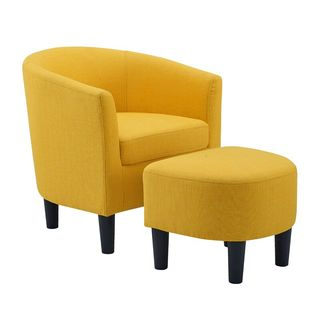 25'' Wide Barrel Chair and Ottoman