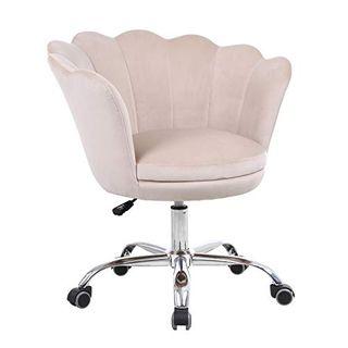 Velvet Upholstered Shell Chair