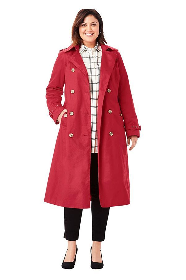 10 Best Plus Size Trench Coats 2021, Red Trench Coat Women S Plus Size