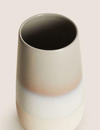Tall Reactive Glaze Cylinder Vase