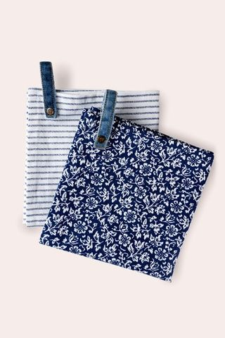 Set of 2 Laura Ashley Blueprint Collectables Kitchen Towels