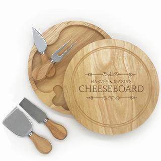 Plateau de fromages personnalisé avec set de couteaux