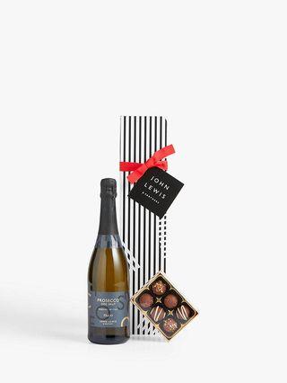 John Lewis & Partners Single Prosecco & Chocolates Gift