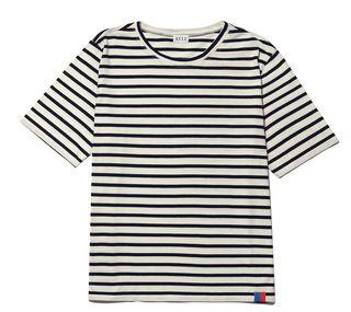 Cream and Navy T-Shirt