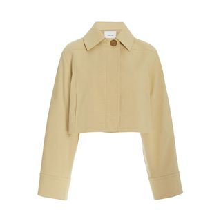 Cropped Cotton-Blend Twill Jacket
