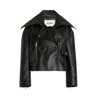 Ado Leather-Blend Jacket