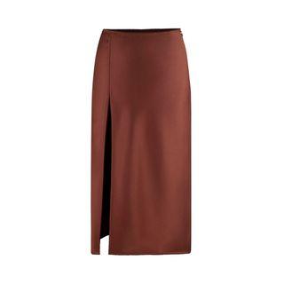Vlada Satin Midi Skirt