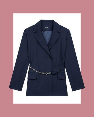 Tailored blazer with chain belt