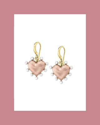 Small Valentine's Day earrings