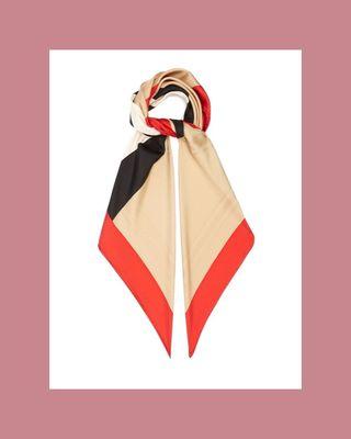 Icon Stripe logo-jacquard silk-twill scarf