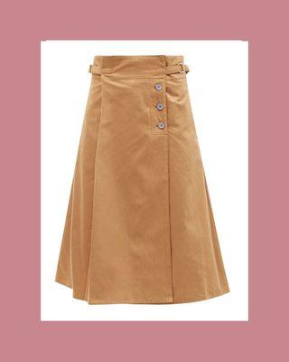 Mid-length wrap skirt