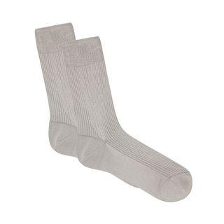 Ribbed Half-Calf Socks
