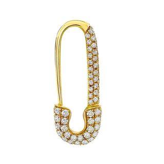 Mini Diamond Safety Pin Earring
