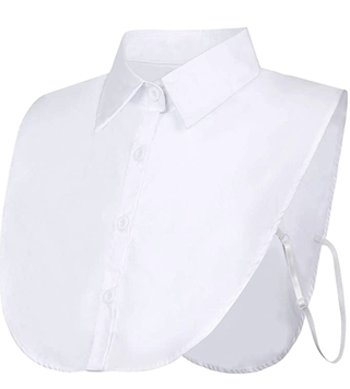 White Detachable Collar