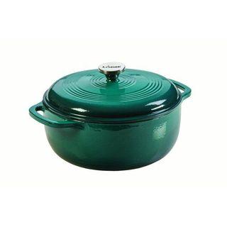 Lodge 6 quart enameled cast iron casserole dish