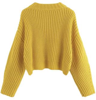 Women's Long Sleeve Waffle Knit Sweater