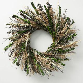 Wreath of dried flowers