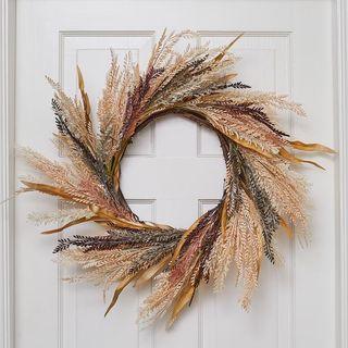 Autumn wreath of wheat 55 cm