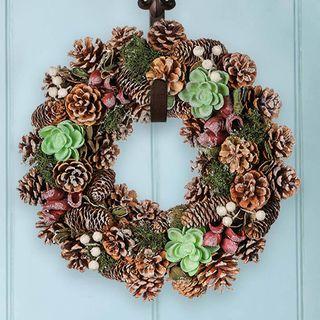 Alpine Fall Succulent Wreath