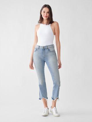 DL1961 Bridget Boot High-Rise Instasculpt Crop Jeans
