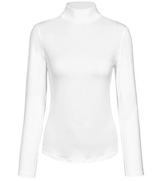 Long-Sleeve Mock Turtleneck Stretch Layer Top