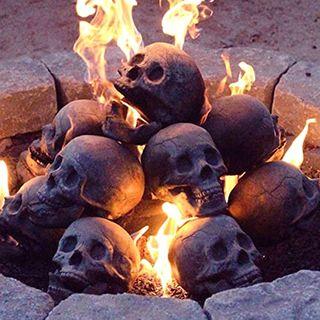 Imitated Human Skull Gas Log