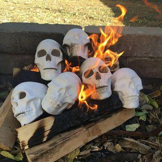 Fire Pit Ceramic Skull