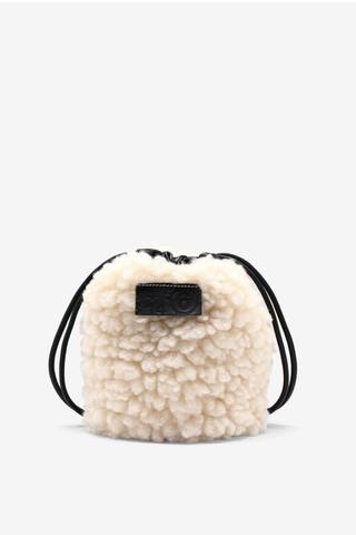 Faux Sheepskin Bucket Bag