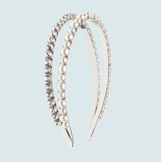 Headband with Crystals and Pearls