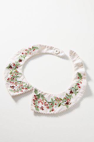 Mint Embroidered Collar
