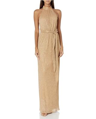 Halston Women's Gold Dress