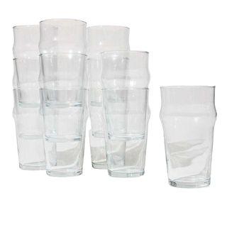 Bormioli Rocco Stackable English Pub Pint Glasses, Set of 12