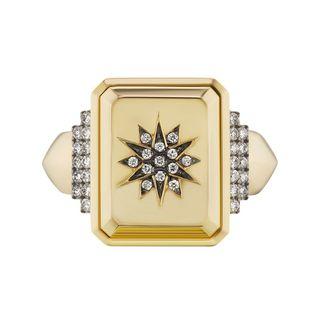 18K Victorian star ring
