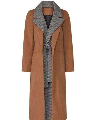 Camel Houndstooth coat