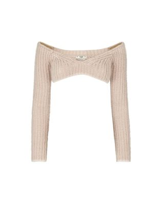 Ribbed mohair sweater