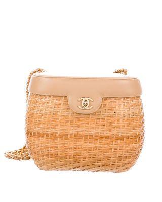 Knitted basket bag