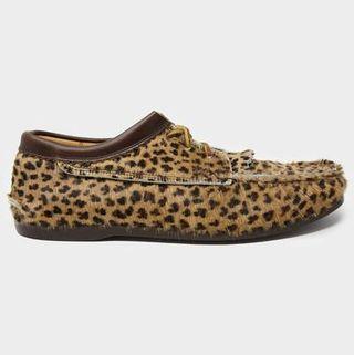 Yuketen Calf Hair Blucher in Leopard