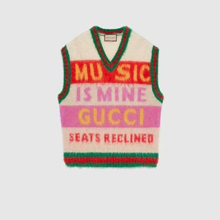 Gucci 100 brushed mohair cardigan