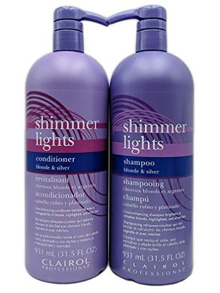 Clairol Shimmer Lights Shampoo & Conditioner Duo 31.5 oz (Blonde & Silver)