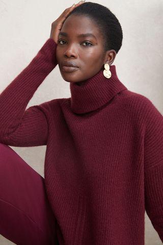 Anna Scallop Hem Sweater