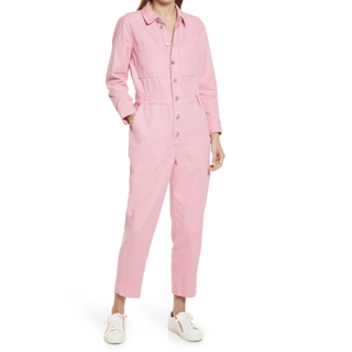 Garment Dyed Relaxed Coverall Jumpsuit