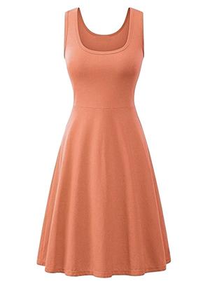 Cotton Skater Midi Dress