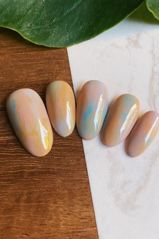 Nails by Canishiea Press-Ons Cotton Candy Skies