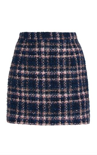 Checked Tweed Mini Skirt