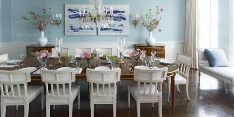 Room, Interior design, Furniture, Table, Chair, Floor, Interior design, Dining room, Home, Lavender,
