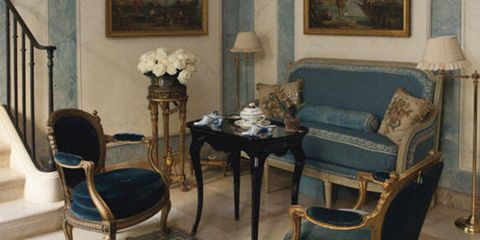 <p>It was in the late 1980s when designer and contributing editor, Susan Gutfreund, and her husband, John, moved into the grand Hotel de Bauffremont on Paris's Left Bank. A serious Francophile, Susan, turned to designer Henri Samuel and architect Alain Reynaud to return the apartment's soaring rooms to the 18th century and decorate it with Continental treasures.  On <strong>June 28</strong>, the Gutfreunds will be selling the apartment's contents in a 468-lot sale at Christie's Paris, with items ranging from exquisite French clocks to four-poster beds to Goyard trunks and multiple French and Venetian porcelain dinner services. You may recognize the apartment from our January/February 2011 issue, but here's a more in-depth look at what's for sale.</p> <p> </p> <p><strong>Photo:</strong> In the petit vestibule, a Louis XV ebonized table (estimate $2,700-$4,000) is flanked by a pair of 19th-century armchairs covered in midnight blue silk velvet (estimate $11,000-$13,000).</p>